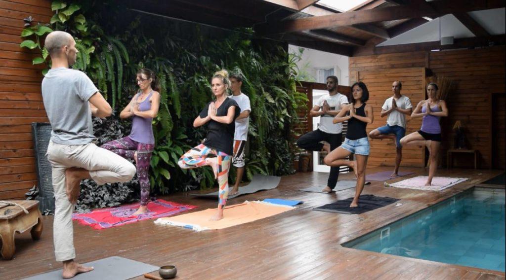 Cours collectif de respiration et de yoga